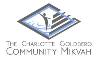 The Charlotte Goldberg Community Mikvah Logo